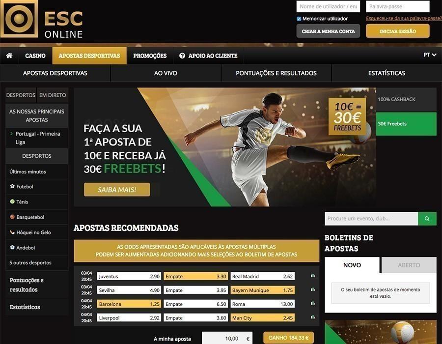 ESC Online Apostas Portugal
